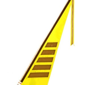 Wimpel L neon gelb