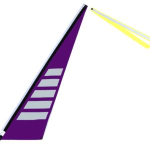 Wimpel L lila