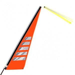 Wimpel L neon orange