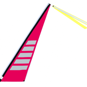 Wimpel L neon pink